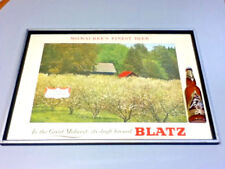 Blatz beer sign vintage brewery Spring in Blossom series Great Midwest series