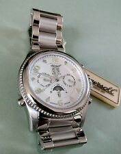 BNWT INGERSOLL MENS JACKSON AUTOMATIC MOON PHASE STAINLESS STEEL WATCH