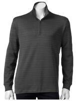 Men's HAGGAR XXL 1/4 Zip  Pullover Athletic Wear Jacket  Gray Sportswear NWT