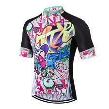 Cartoon Pro Men Bicycle Bike Half Sleeve Cycling Jersey Clothing Shirt S-3XL