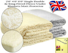FLEECE Fitted Underblankets UK Made - Colour - Cream, Grey and 6 Sizes