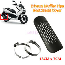 Exhaust Muffler Pipe Heat Shield Cover Heel Guard Universal Motorcycle Black