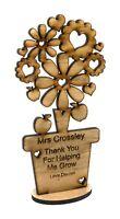 Personalised Teacher Flower Thank you Gifts Nursery Pre School Leaving Present