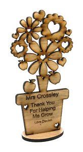 Personalised Teacher Gifts Flower Thank you Nursery Pre School Leaving Present