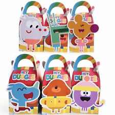 6x Hey Duggee Lolly Loot Bag Box. Party Supplies Bunting Banner Flag Game Cake