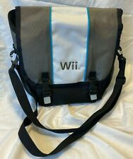 Official Nintendo Wii Messenger Bag Gray White Blue Stripe ALS NW180 Console New