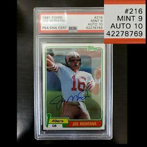 1981 Joe Montana Rookie, PSA/DNA 9/10, PSA 10 Mint Auto, BGS 9.5 Crossover