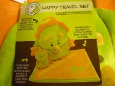 New ! Animal Adventure Happy Travel Set Bag Blanket Plush Set Christmas Gift