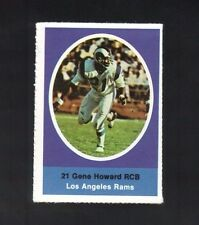 1972 SUNOCO STAMP GENE HOWARD LOS ANGELES RAMS