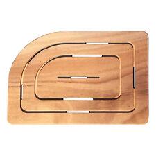 Pedana doccia legno okumè per piatto doccia 70x90 cm angolo sinistro 75x55 cm