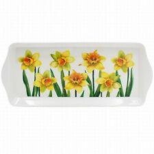 Daffodil Flower Design Medium Melamine Food Lunch Tea Coffee Snack Serving Tray