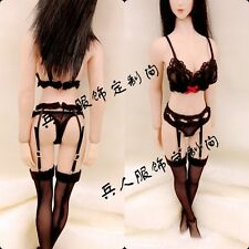 "X1 Custom 1:6 Figure Black Underwear For 12"" Phicen Female Middle Bust Body Doll"