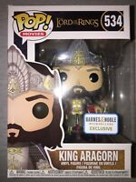 King Aragorn Lord of the Rings Funko Pop Vinyl New in Mint Box + Sticker + P/P