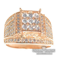 Lab Diamond Bridal Engagement Wedding Ring Womens Ladies 14K Rose Gold Finish