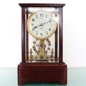 Antique EUREKA CLOCK Mantel UK 5 CRYSTALS!! ELECTROMAGNETIC Translucent Skeleton