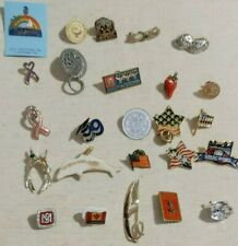 Mixed Lot 25 Pins Patriotic Advertising Peanut Porpoise Ms Souvenir Rhinestone