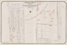 1913, GOAD, MONTREAL, CANADA, MONKLAND BOARDING SCHOOL, COPY PLAT ATLAS MAP