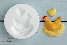 Moule silicone, printemps Poulet et Poussin, poule, Pâques ellam Sugarcraft m0172
