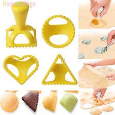 4Pcs Plastic Dough Press Dumpling Pie Mould Maker Cooking Pastry Kitchen Tool
