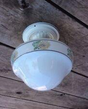 Antique Brass Flush mount Light with Sunflower Globe