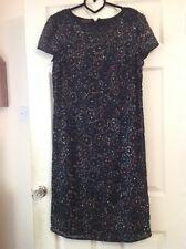 Frank Usher Vintage 50s Style Fully Beaded Dress Size-16 (V1)