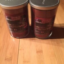 Lot of 2 Yankee Candle TAILGATING Yankee Candles large 2 wick Tumbler Jars