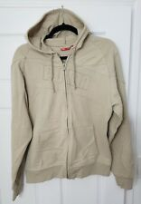 PUMA Women Athletic Sweater Hooded, Full Zip,Special Edition,Beige Cotton,Size M