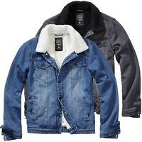 Brandit Herren Jacke Sherpa Denim Jacket Jeansjacke Winterjacke S-5XL