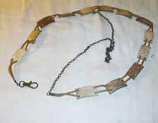 COOL HIPPY COCONUT SHELL BELT RUSTIC ETHNIC EXT CHAIN CLOSED HOOK FESTIVAL BOHO