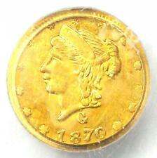 1870 Liberty California Gold Quarter 25C Coin BG-835 - PCGS MS62 (BU UNC)