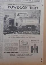 1957 newspaper ad  for International Harvester - Pickup truck with Powr-Lok