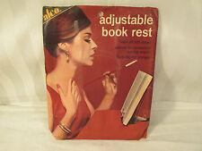 VINTAGE 1966 ADJUSTABLE FOLDING BOOK REST ALCO  AL NYMAN  SON  #425