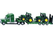 SIKU Low Loader with John Deere Tractors 1:87 Scale NEW toy trailer tractor 1837