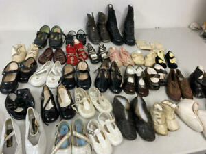 LARGE LOT OF VINTAGE AND ANTIQUE CHILDREN'S SHOES AND BOOTS