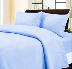 Branded Duvet Collection Egyptian Cotton Sky Blue Solid Choose Item & AU Size