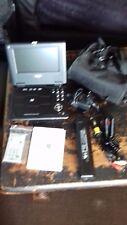 """lecteur cd/dvd portable xoro 7""""/batterie rechargeable 7h /telecommande /housse"""
