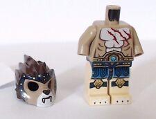 LEGO Minifigura Leggende di Chima LION TRIBE longtooth CORPO CAPELLI vedere foto R117