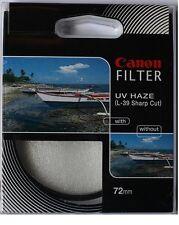 Canon 72mm UV (Ultra Violet) Glass Filter (L-39 Sharp Cut), London