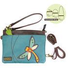 Chala Handbags-Turquoise Dragonfly Mini Crossbody Phone Purse