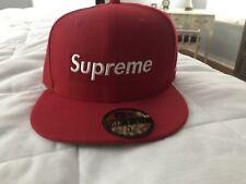 9c127060f47 Supreme x New Era Box Logo RIP Fitted Hat Red FW16 75 8