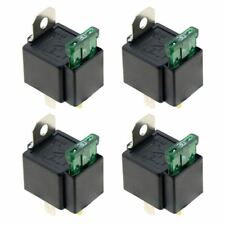 4 x 12V Automotive On/Off Fused Relay 30A 4-Pin Auto