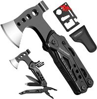 Multitool Camping Accessories 15 in 1 Survival Gear Tools Gifts Black AND RED