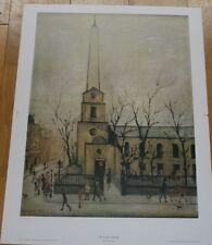 L.S.LOWRY ST LUKES CHURCH LIMITED EDITION PRINT
