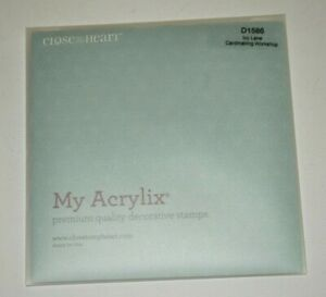 Close To My Heart - My Acrylix Ivy Lane Cardmaking Workshop D1586 Unused Stamp