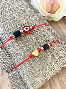 azabache bracelet protection amulet red string evil eye mal de ojo ojo turco