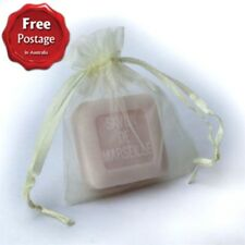 Savon de Marseille 25g Guest Soap in Organza Bag - Rose