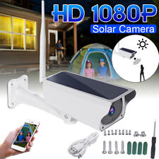 Solar PIR Motion Security Camera IP Wifi Wireless Rechargeable HD 1080P Outdoor