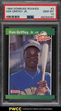 1989 Donruss Rookies Ken Griffey Jr. ROOKIE RC #3 PSA 10 GEM MINT