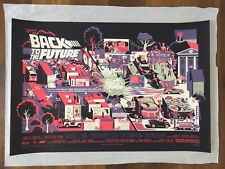 Back to the future (Variant) by Adam Simpson screenprint Poster Mondo