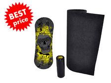 Trickboard Black Skull  +  Roller + Carpet - Indo Board Rollerbone Balance GLS
